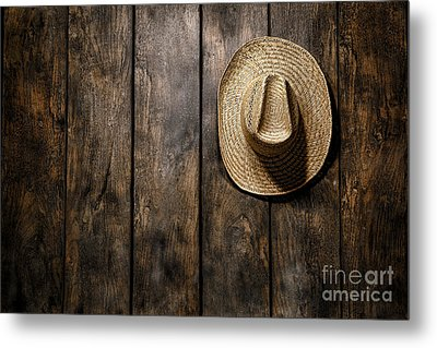 Hanging My Hat Metal Print by Olivier Le Queinec