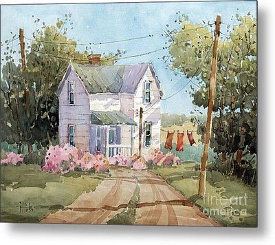 Hanging Out In Illinois By Joyce Hicks Metal Print