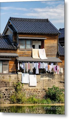 Hanging Out To Dry - Laudry Day In Japan Metal Print by David Hill