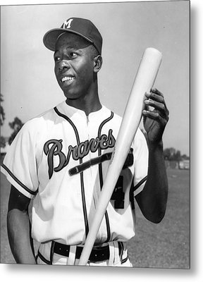 Hank Aaron Poster Metal Print by Gianfranco Weiss