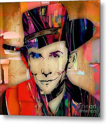 Hank Williams Collection Metal Print