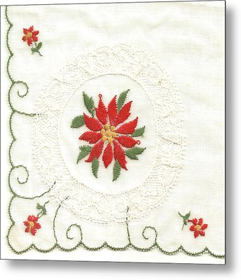 Hanky Made In Switzerland Metal Print by Lili Ludwick