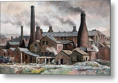 Hanley Pot Works Metal Print by Anthony Forster