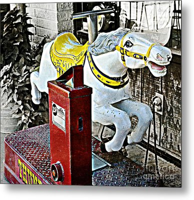 Hannibal Mechanical Riding Horse Metal Print by Luther Fine Art