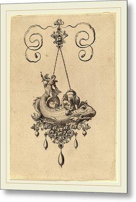 Hans Collaert Flemish, 1566-1628, Jewelry Design Metal Print by Litz Collection