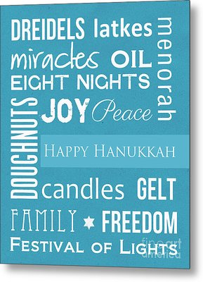 Hanukkah Fun Metal Print by Linda Woods