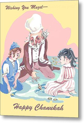 Hanukkah Joy Metal Print by Shirl Solomon