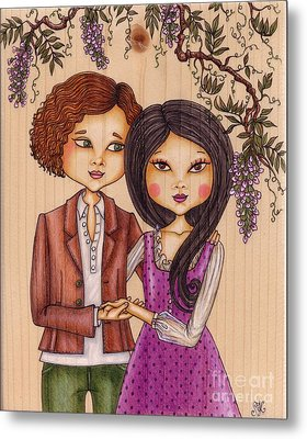Happily Ever After - On Wood Metal Print by Snezana Kragulj