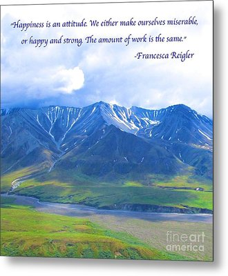 Happiness 2 Metal Print by Michael Anthony