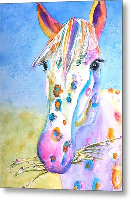 Happy Appy Metal Print by Carlin Blahnik