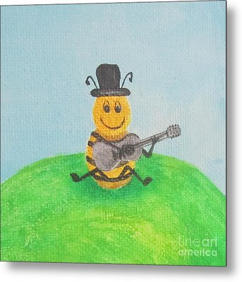 Happy Bee Metal Print by Jeepee Aero