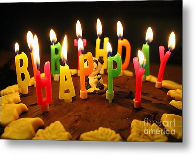Happy Birthday Candles Metal Print by Lars Ruecker