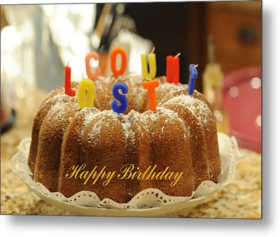 Happy Birthday I Metal Print by Harold E McCray