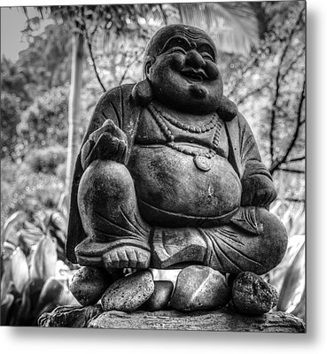 Metal Print featuring the photograph Happy Buddha by Cathy Donohoue