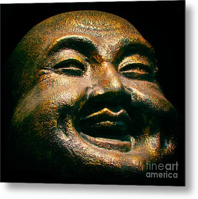 Happy Buddha Metal Print by Mark Miller