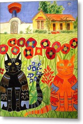 Happy Cats Metal Print