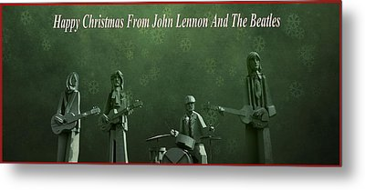 Happy Christmas From John Lennon Metal Print by Dan Sproul