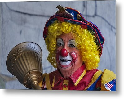 Happy Clown Metal Print by Susan Candelario