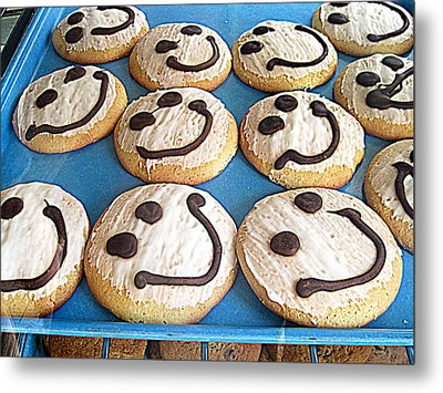 Happy Cookies Metal Print