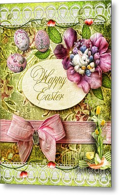 Happy Easter 2 Metal Print by Mo T