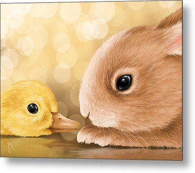 Happy Easter 2014 Metal Print by Veronica Minozzi