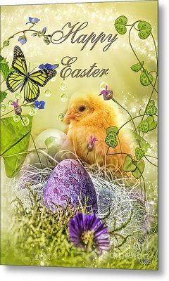 Happy Easter Metal Print by Mo T
