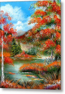 Happy Ever After Autumn  Metal Print by Patrice Torrillo