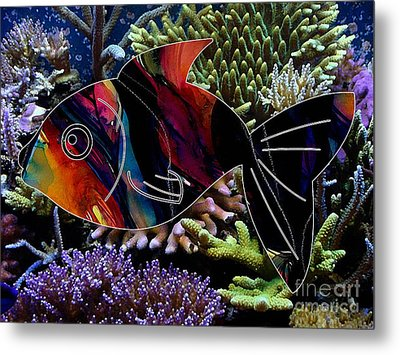 Fish In The Reef Metal Print by Marvin Blaine