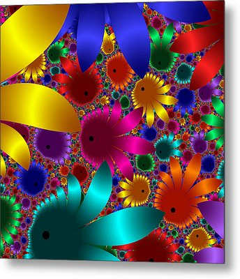 Happy Flowers Metal Print by Svetlana Nikolova