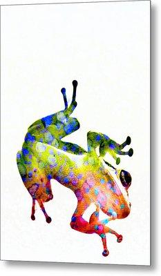 Happy Frog Metal Print by Darla Wood