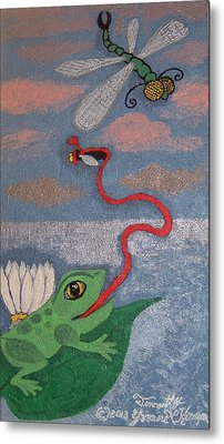 Happy Frog Metal Print by Yvonne  Kroupa