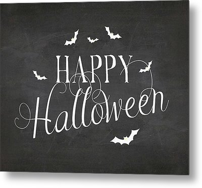 Happy Halloween Metal Print by Amy Cummings