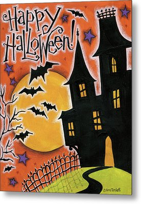 Happy Halloween Metal Print by Anne Tavoletti