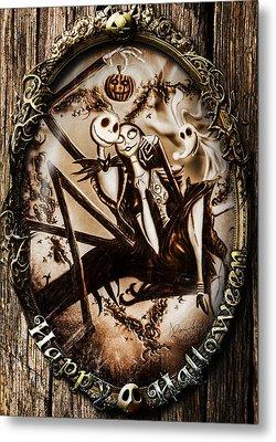 Happy Halloween IIi Sepia Version Metal Print