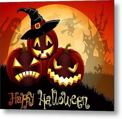 Metal Print featuring the painting Happy Halloween by Gianfranco Weiss