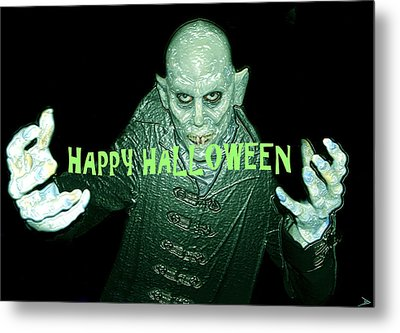 Happy Halloween The Count Metal Print by David Lee Thompson