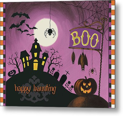 Happy Haunting Boo Metal Print by Lisa Audit
