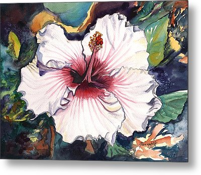 Metal Print featuring the painting Happy Hawaiian Hibiscus by Marionette Taboniar