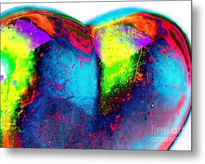 Happy Heart Metal Print by Carol Lynch