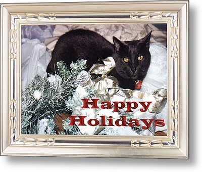Happy Holidays Metal Print by Eve Riser Roberts