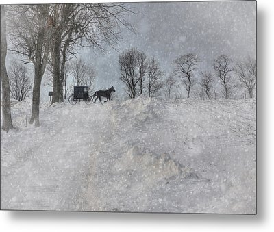 Happy Holidays From Pa Metal Print by Lori Deiter