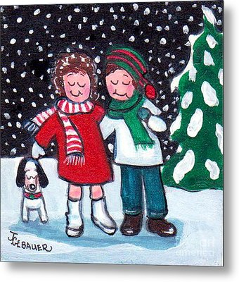 Metal Print featuring the painting Happy Holidays by Joyce Gebauer