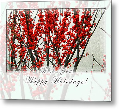 Happy Holidays Metal Print by Xueling Zou