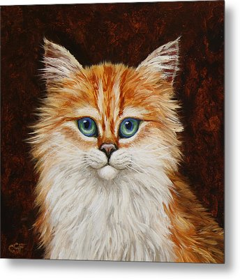 Happy Kitty Metal Print by Crista Forest