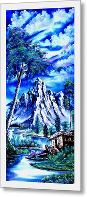 Happy Mountain  Metal Print by Shirwan Ahmed