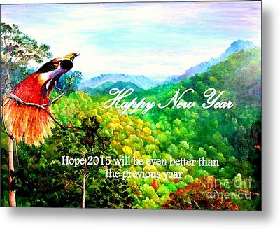 Happy New Year Metal Print