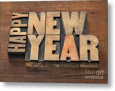 Metal Print featuring the photograph Happy New Year by Marek Uliasz