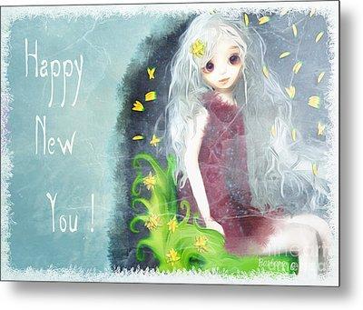 Metal Print featuring the digital art Happy New You by Barbara Orenya