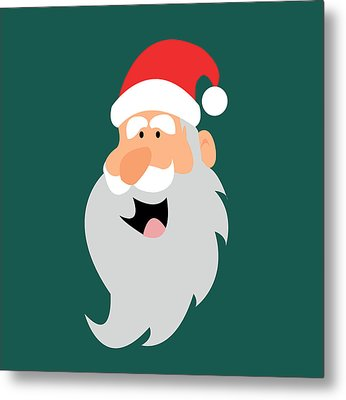Happy Santa Metal Print by Kenneth Feliciano