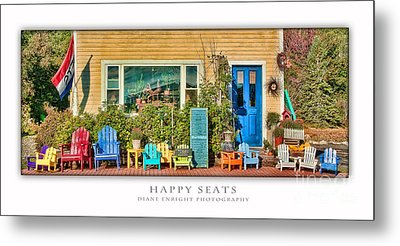 Happy Seats Metal Print